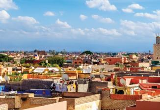 The city of Marrakesh in Morocco