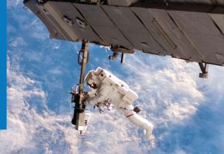 An astronaut in the sky